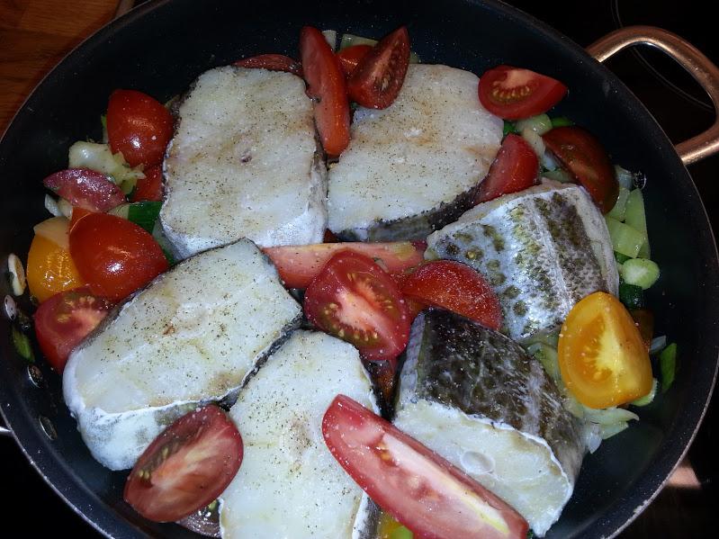 Torsk i gryte med gode grønnsaker