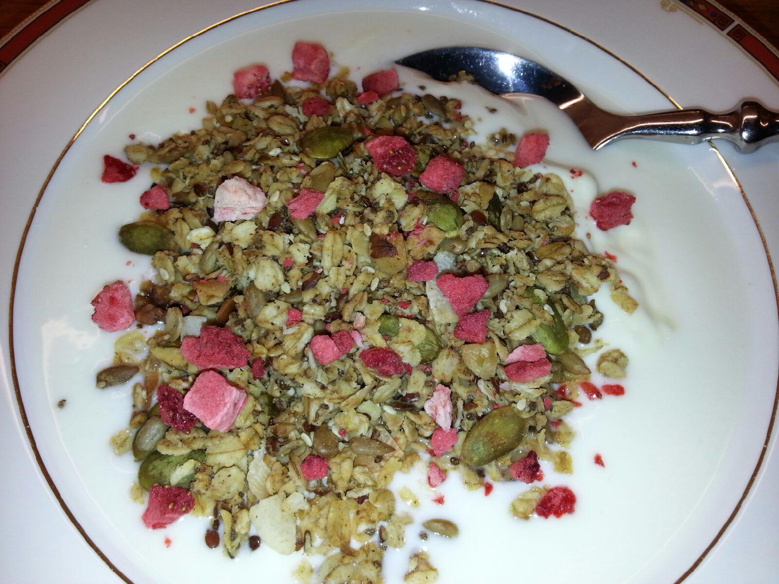 Glutenfri granola med chiafrø