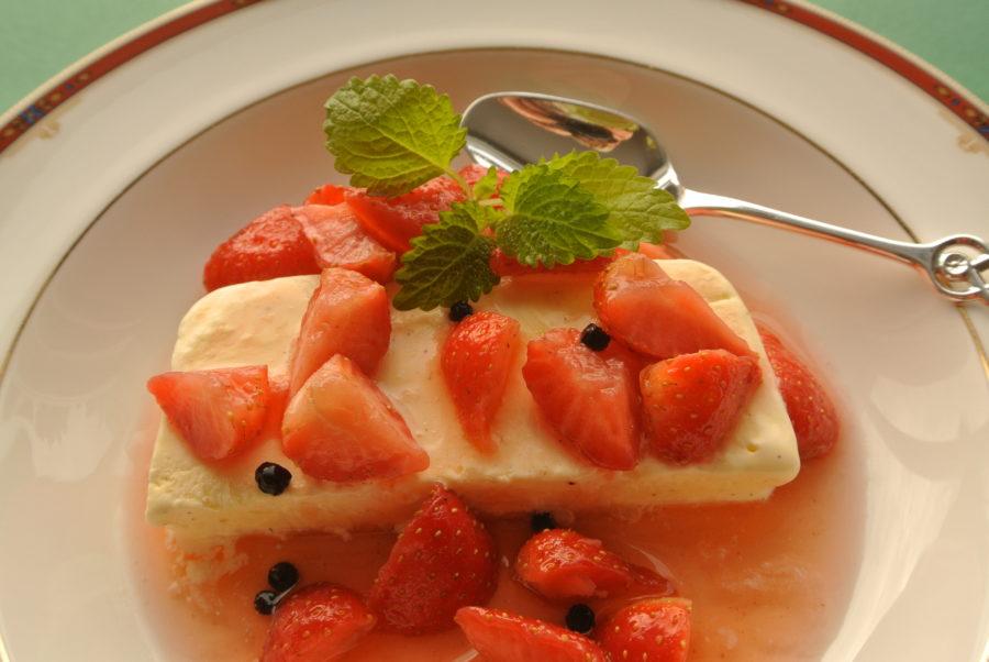 Peppermarinerte jordbær