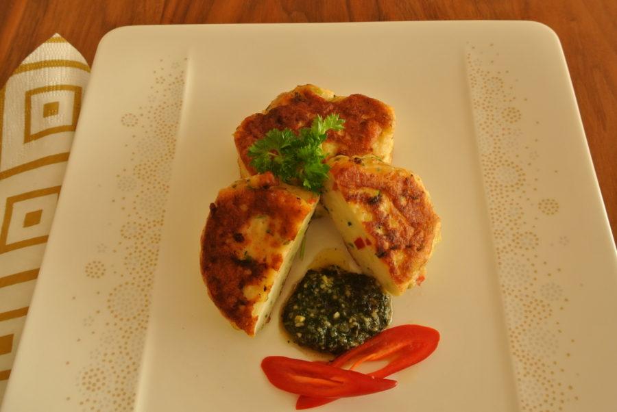 Luksus fiskekaker med vårløk, chili og urter