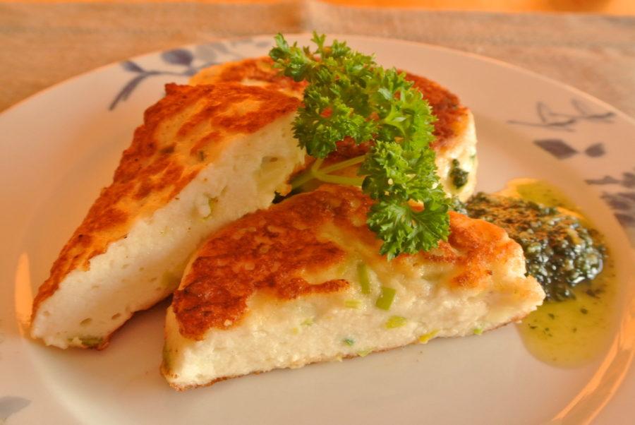 Fiskekaker med hvitløk og purreløk