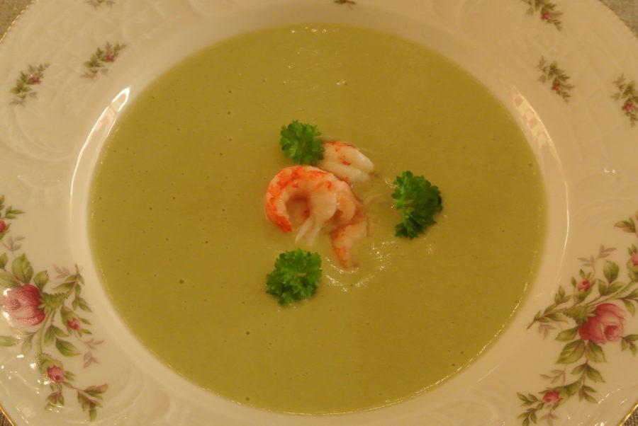 Fløyelsmyk grønn suppe